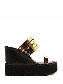 Toe Ring Platform Wedge Heel Slippers