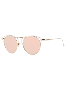 Arrow Cat Eye Mirrored Sunglasses - Pink
