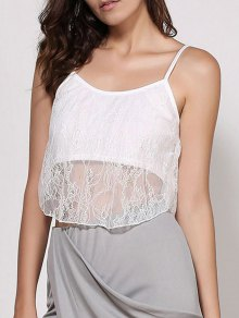 Lace Spaghetti Strap Crop Top