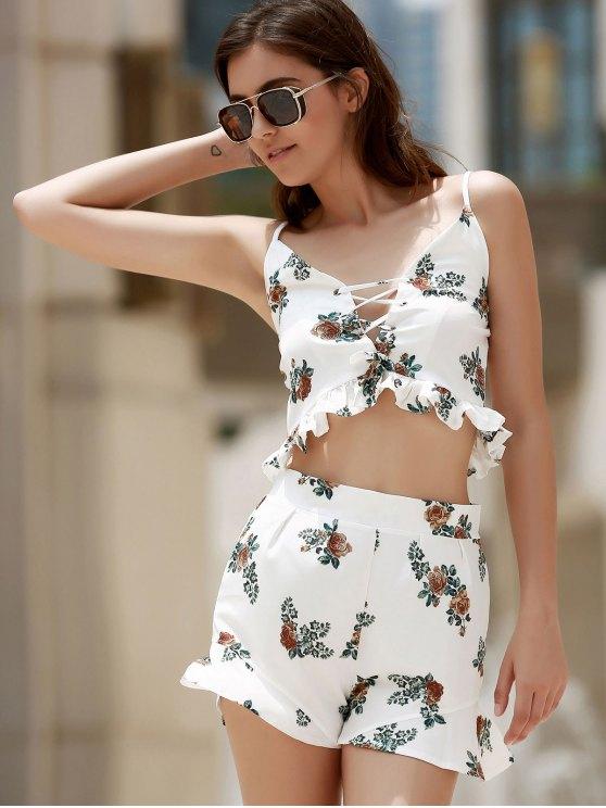 Floral Print Cami Open Back Maxi Dress - COLORMIX XL Mobile