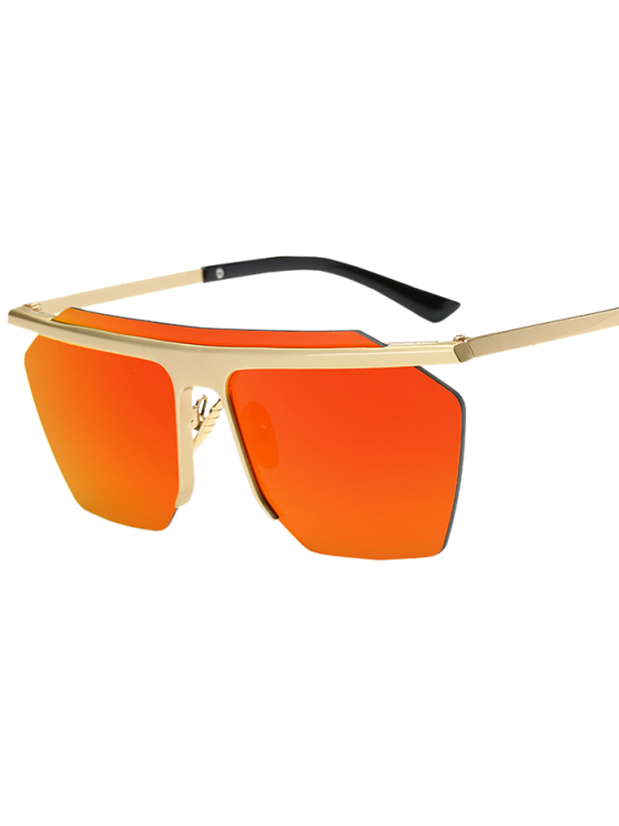 Rimless Mirrored Square Sunglasses - JACINTH  Mobile
