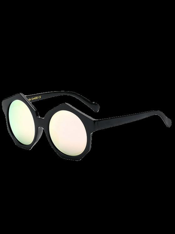 Gafas de sol con espejo poligonal Marco - Rosa
