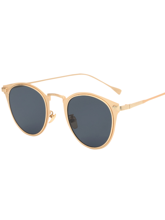 Metal Cat Eye Sunglasses - GOLDEN  Mobile
