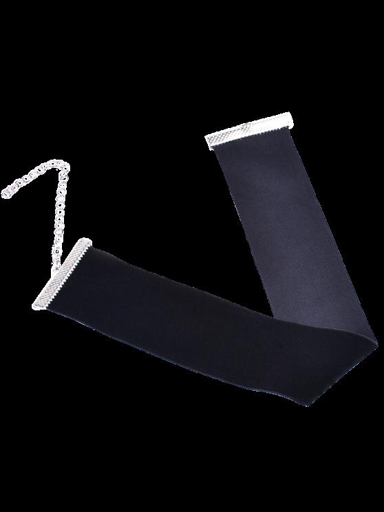 Velvet Wide Choker Necklace - BLACK  Mobile