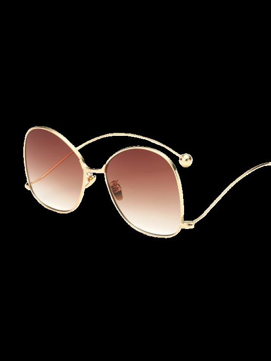 Small Ball Wave Leg Irregular Sunglasses - GOLDEN  Mobile