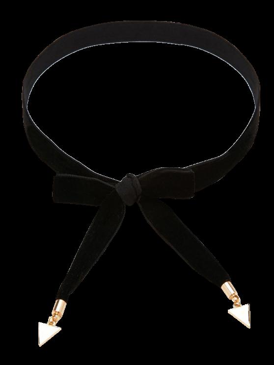 online Bowknot Velvet Tie Choker - BLACK