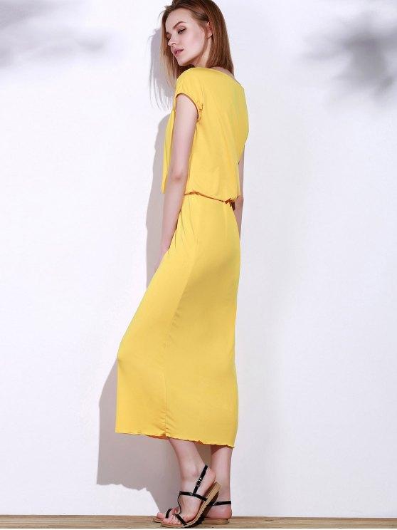 Blouson Maxi Dress - YELLOW S Mobile