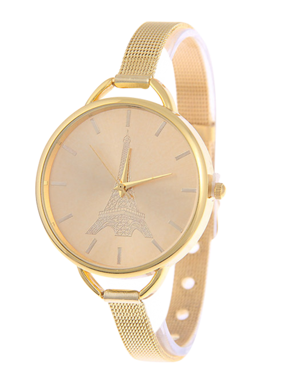 buy Eiffel Tower Quartz Alloy Watch - GOLDEN