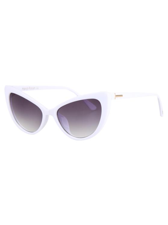 trendy Letter T Shape Inlay Sunglasses - WHITE