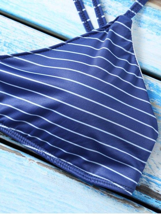 Strappy Bikini Set - PURPLISH BLUE L Mobile