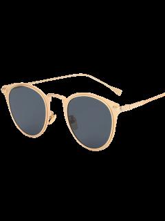 Metal Cat Eye Sunglasses - Golden