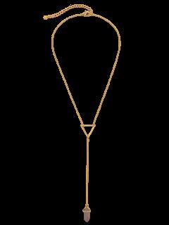 Bullet Natural Stone Necklace - Golden
