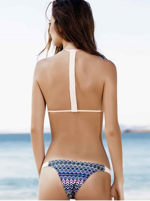 shops Spaghetti Strap Tie-Up Printed Bikini Set - PINK L Mobile