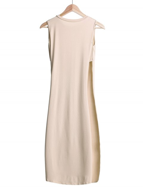 outfit Side Slit Midi Tank Dress - OFF-WHITE S Mobile