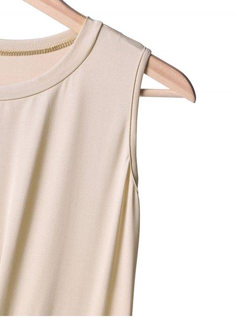 shop Side Slit Midi Tank Dress - OFF-WHITE M Mobile