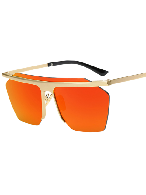 chic Rimless Mirrored Square Sunglasses - JACINTH  Mobile