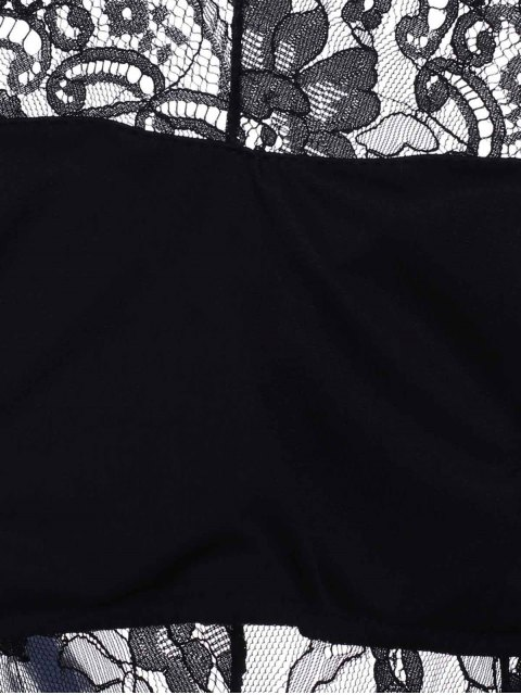 new Midi Lace Inset Bodycon Dress - BLACK ONE SIZE(FIT SIZE XS TO M) Mobile