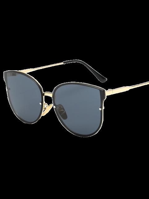 lady Full Rims Butterfly Sunglasses - BLACK  Mobile