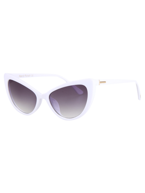 trendy Letter T Shape Inlay Sunglasses - WHITE  Mobile