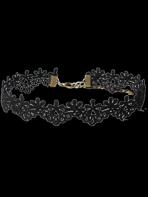 collier ras de cou g om trique fleur punk noir colliers zaful. Black Bedroom Furniture Sets. Home Design Ideas