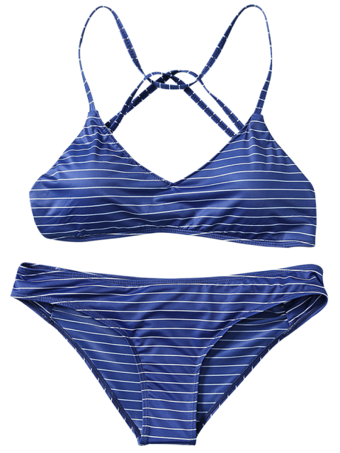 new Strappy Bikini Set - PURPLISH BLUE L Mobile