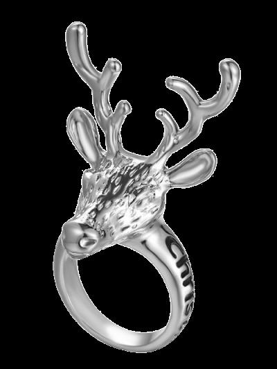 Christmas Deer Ring - Silver
