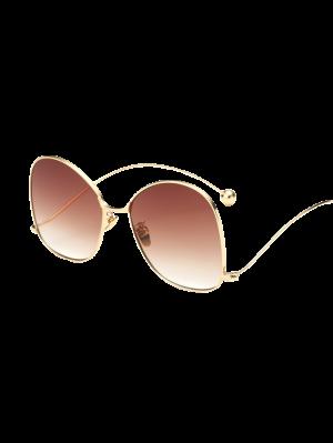 Small Ball Wave Leg Irregular Sunglasses - Golden