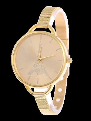 Eiffel Tower Quartz Alloy Watch - Golden