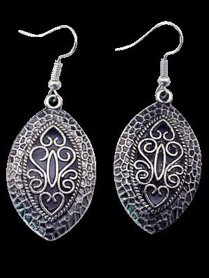 Hollowed Leaf Earrings - Silver