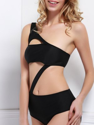One Shoulder Bandage One Piece Swimwear