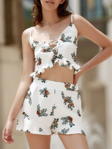 Floral Print Cami Open Back Maxi Dress