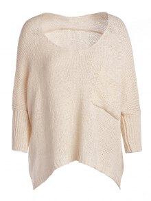 Open Knit Scoop Neck Oversized Sweater