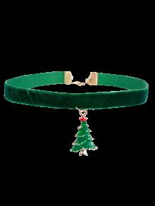 Christmas Tree Velvet Choker
