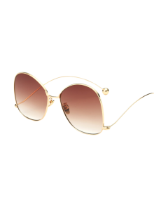Small Ball Wave Leg Irregular Sunglasses