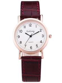 PU Leather Casual Quartz Watch