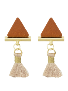 Tassel Triangle Earrings