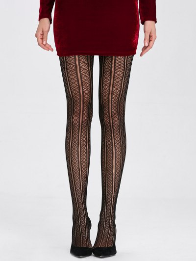 Cutwork See Thru Elastic Stockings