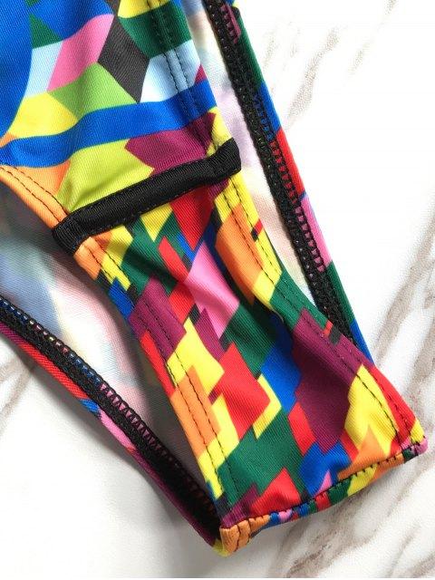 women's Beading Tassels Bikini Set - BLACK S Mobile