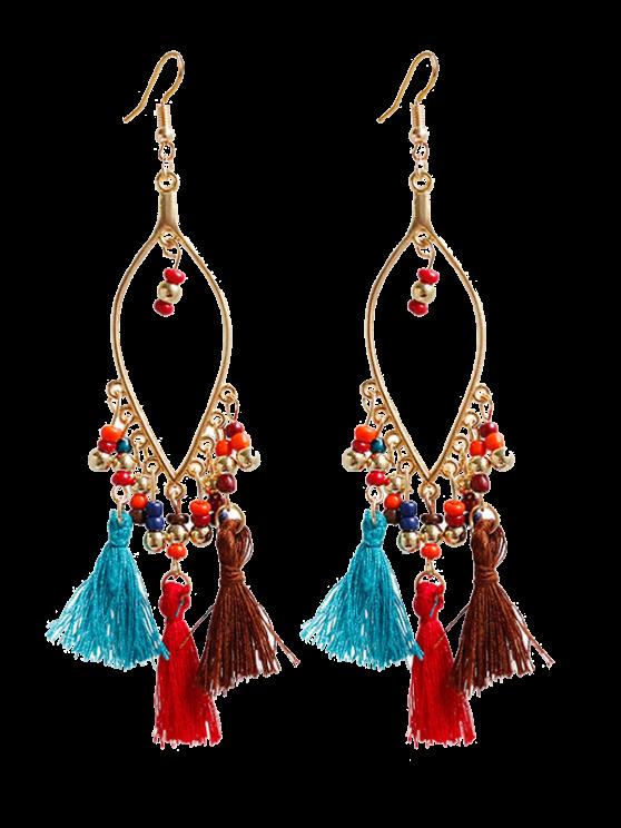 shops Vintage Beads Tassel Drop Earrings - COLORMIX
