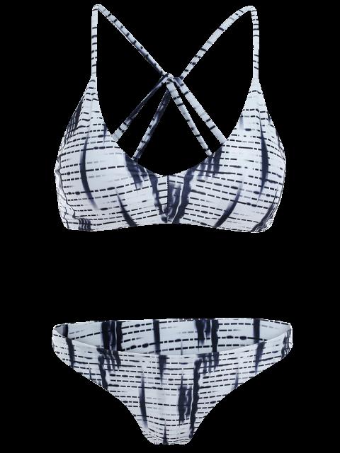 latest Strappy Striped Bikini Set - COLORMIX M Mobile