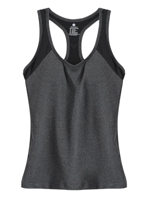 hot U Neck Racerback Running Vest - GRAY M Mobile