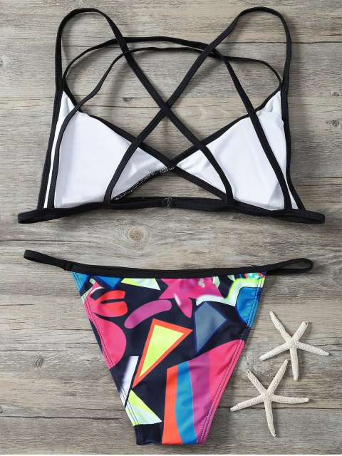 women's Printed Criss-Cross Swimsuit - COLORMIX M Mobile