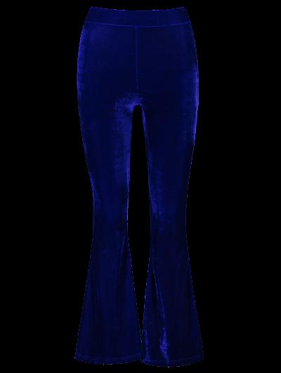 Velvet Flare Pants - BLUE XL Mobile