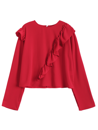 Frilled Top - RED S Mobile