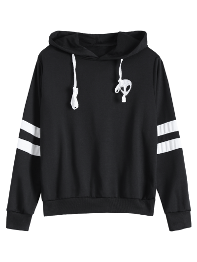 Striped Classic Hoodie - BLACK S Mobile