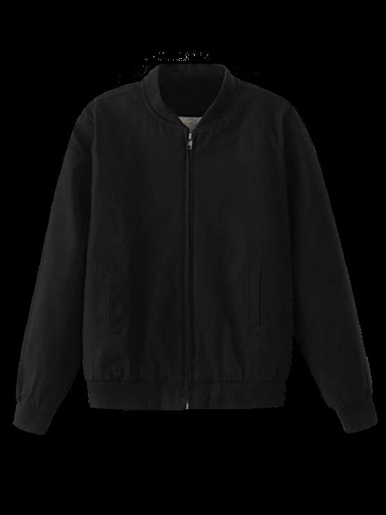 Thick Bomber Jacket - BLACK M Mobile