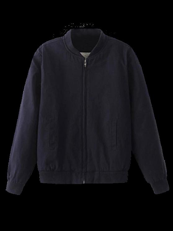 shop Thick Bomber Jacket - PURPLISH BLUE S