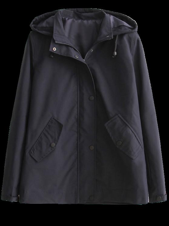 women's Hooded Windbreaker Jacket - BLACK S