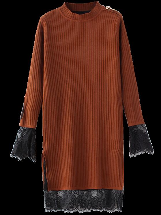 Panel de encaje Recortable vestido que hace punto - Jengibre Única Talla