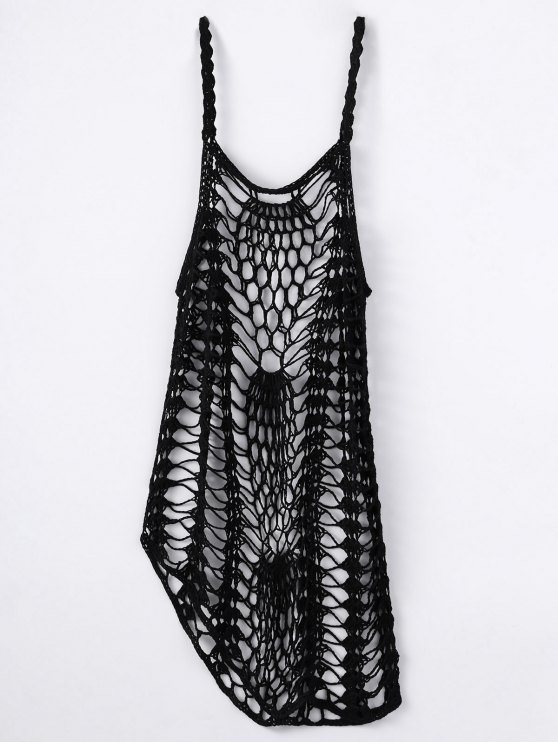 Cut Out Crochet Cover Up - BLACK S Mobile